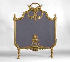 Antique Louis XVI style gilt bronze fire screen with garlands of flowers and quiver decor (Reference - Available at Galerie Marc Maison Louis Xvi, Arrow Decor, Charred Wood, Bronze, Architectural Antiques, Quiver, Flower Garlands, Decoration, Dekoration