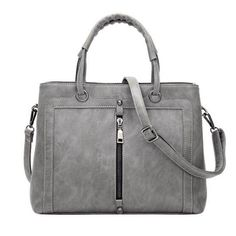 Women Leather Handbag Black Grey Causal Tote Bag Large Capacity Shoulder bag Shopping Luxury Handbags Women Bags Designer PP-391