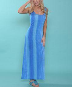 Look what I found on #zulily! Lbisse Blue & Teal Stripe Maxi Dress - Women by Lbisse #zulilyfinds