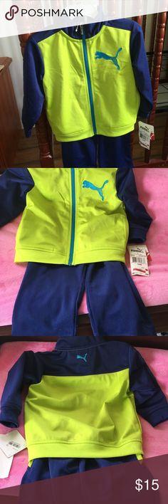 Puma zipper jacket & pants Puma zip up jacket & matching elastic pants. Size 18 months. Smoke free home. Bought at Macy's. Puma Matching Sets