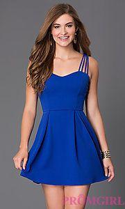 Buy Short Sleeveless Dress at PromGirl