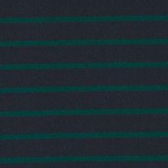 Kraftig børstet jersey navy m striper