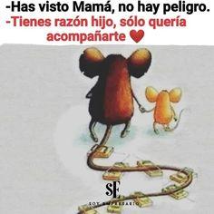 Siempre a tu lado mi dannita ♡ love family fortaleza Qoutes, Life Quotes, Inspirational Phrases, Mother Quotes, Spanish Quotes, Mothers Love, Humor, Family Love, Jelsa