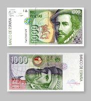 1.000 Pesetas de la Antigua Moneda Española - Money Made in Spain Money Notes, Ol Days, Postage Stamps, Nostalgia, Childhood, Memories, Retro, Monopoly, Spanish