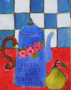a pretty tea pot