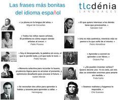 Frases célebres el español. Quotes in Spanish.  #citas #frases #español #ELE #Spanish #spanishvocabulary