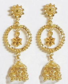 ♥ 1 Gram Gold Jewellery, Gold Jewelry, Jewelry Accessories, Kids Earrings, Gold Earrings, Drop Earrings, Nail Jewels, Bling Nails, Gold Style