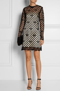 Marc JacobsGuipure lace and silk-satin dress