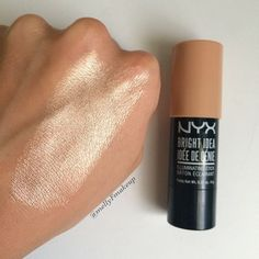 "Mel on Instagram: ""That glow tho 😳 NYX Bright Idea Illuminating Stick in Chardonnay Shimmer. I almost always powder my face before remembering to use cream or…"""