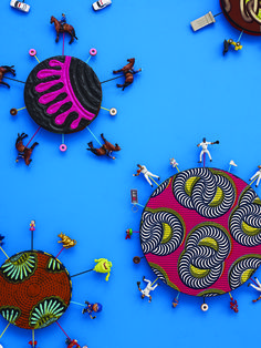 News: Yinka Shonibare MBE: Fabric-ation at Yorkshire Sculpture Park 2 March until 1 September.     www.aestheticamagazine.com