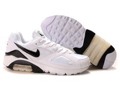 competitive price 24b4d f4983 Nike Air Max 180 Mens White Black Sports Shoes