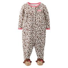 Just One You™Made by Carter's® Newborn Girls' Sleep N' Play - Brown/Pink