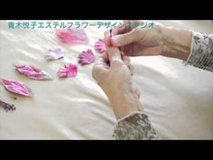 Silk flowers with flower iron - demo