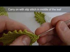 Irish Crochet - Rose Leaf Tutorial - YouTube