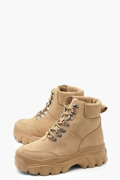 7bcaa917787 Sand Chunky Sole Hiker Boot | Get the look in 2019 | Boots, Shoes ...