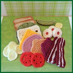 Crochet Pattern Crochet Food Let's Do Lunch by Yarnington on Etsy, $3.50