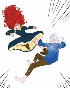 Lol Merida and Jack fighting