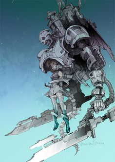 The girl and her mech concept art Character Concept, Character Art, Character Reference, Arte Robot, Arte Cyberpunk, Robot Concept Art, Robot Design, 2d Art, Character Design References