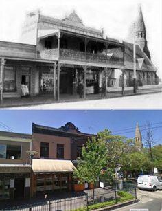 Darling St, Balmain 1888>2013 [1888-Old Balmain People FB > 2013-Google Street View by Les de Belin]