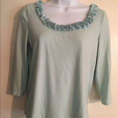 Talbots turquoise T-shirt. Talbots turquoise T-shirt, lightweight, supersoft cotton, size small, very nice and airy for summer. Talbots Tops Tees - Long Sleeve