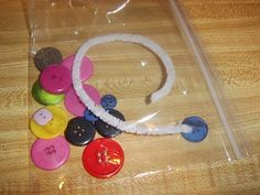 Little Family Fun: Button Threading. Add this to the Busy Bags. Airplane Activities, Childcare Activities, Gross Motor Activities, Gross Motor Skills, Travel Activities, Activities For Kids, Crafts For Kids, Easy Crafts, Activity Bags