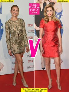 Both leading ladies rocked sexy mini dresses on the red carpet — but who do YOU think was best dressed? VOTE. Kate Upton, 21, and Cameron Diaz, 42, seemed to be coordinating their outfits, yet again, for the latest premiere of The Other Woman as the co-stars arrived on the red carpet on April 7 at the Mathaeser Filmpalast in Munich, Germany. While Kate looked red hot, Cameron was a total golden girl — but which look was your favorite?