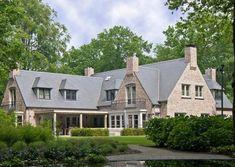 Woonhuis Blaricum - O5b architecten Bungalow House Plans, Dream Houses, Future House, Villa, Home And Garden, Exterior, Cabin, Interior Design, House Styles