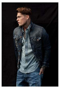 stephen james 0002 Edu Garcia Shoots Stephen James for a Denim Story in Mens Health Spain