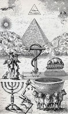 High Degree Symbols From the book The Freemason by Eugen Lennhoff... News Photo   Getty Images: