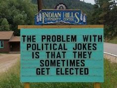 Indian Hills Community in Colorado enjoys a good laugh with their ever-changing and ever-punny signs. Local community center volunteer Vince Rozmiarek is the one to blame because he's the one behind all the brilliant puns featured below. Funny Puns, Funny Texts, Funny Stuff, Bad Puns, Funny Dad, Funny Things, Funny Captions, Funny Fails, Funny Humor