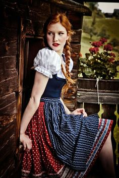 The Lovely Side: 10 Darling Dirndls- when drinking at Oktoberfest, who doesn't need an old fashioned outfit?