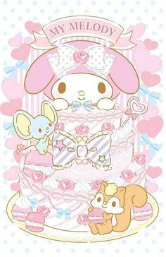My Melody Wallpaper, Sanrio Wallpaper, Kawaii Wallpaper, Twinkle Star, Twinkle Twinkle, Sanrio Characters, Anime Characters, My Melody Sanrio, Hello Kitty Cake