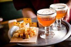 Belgian Beer with Cheese  #Chimay #craftbeer #belgianbeer