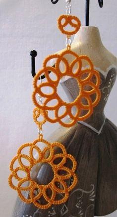 Orecchini Dalia - arancio