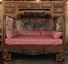 Additional views of Antique Chinese Wedding Bed. Asian Bedroom, Wedding Bed, Dream Rooms, Queen Size, Asian Art, Love Seat, Victorian, Carving, Couch