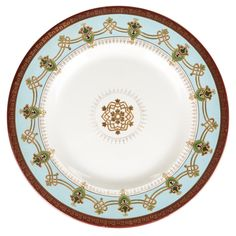 A RUSSIAN PORCELAIN CHARGER IN THE NEO-RUSSIAN STYLE, KUZNETSOV PORCELAIN MANUFACTORY 1899-1917.