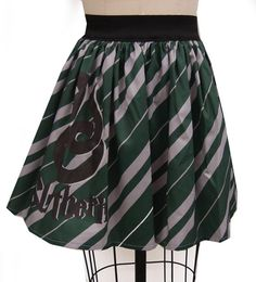Hey, I found this really awesome Etsy listing at https://www.etsy.com/listing/115022026/slytherin-inspired-full-skirt
