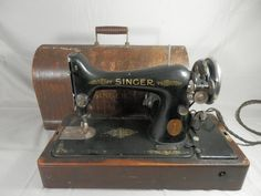 Vintage Singer Sewing Machine Model 99 with Bentwood Case 1924 by WesternKyRustic on Etsy