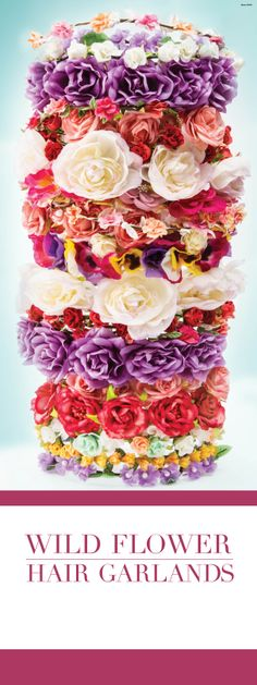 Floral hair garlands - flowers for every occasion