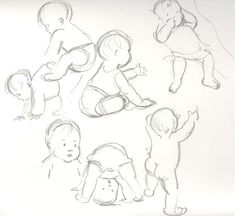 baby sketches by Charlie Meyer http://www.charlottemeyer.moonfruit.co.uk/