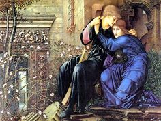 Love Among the Ruins by Edward Burne-Jones, 1894, oil (original 1873 watercolour was accidentally destroyed in 1893 during cleaning)