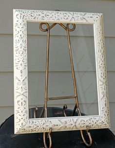 "$9 Framed Glass for Signs Ivory 11"" x 14"""