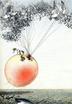 James And The Giant Peach #illustration #book