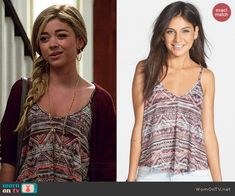 Haley's printed cami on Modern Family. Outfit Details: http://wornontv.net/43087/ #ModernFamily
