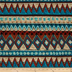 Stretch Hatchi Knit Abstract Stripe Turquoise/Black