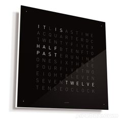 Cool clock  QLOCKTWO