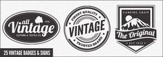 25 Premium Retro Style Vector Badges