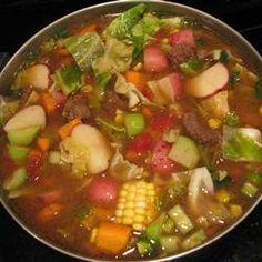 Caldo de res/Beef stew. Yummy!