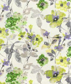 HGTV Urban Blossoms Platinum Fabric - $23.85 | onlinefabricstore.net