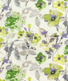 HGTV Urban Blossoms Platinum Fabric - $23.85   onlinefabricstore.net